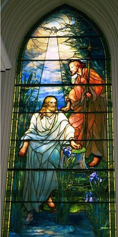 Baptism of Christ ~ Louis Comfort Tiffany