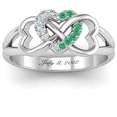 Triple Heart Infinity Ring #jewlr
