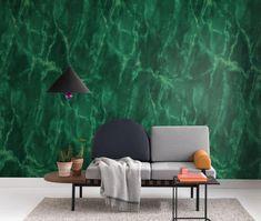 Magic Marble Jade Green | Mr Perswall Green Wallpaper, Wall Wallpaper, Escape Room, Jade Green, Wall Murals, Marble, Magic, Interior, Furniture