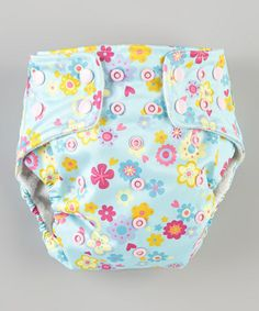 Take a look at this One Size Blue Flowers Pocket Diaper by Awesome Blossom on #zulily today!