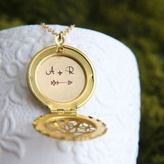 Personalized Locket Initial Locket Necklace Date by JewelleryJKW