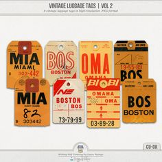 Vintage Luggage Tags Volume 2 (CU)