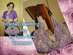 crochet blooming bag - YouTube