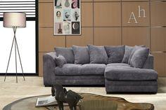 Groupon Goods Milo Sofa and Lounge Collection: Right-Hand Corner Sofa / Grey Three Seat Sofa, Sofa, Gray Sofa, Grey Corner Sofa, Sofa Set, Sofa Next, Sofa Italia, Lounge, Black Sofa