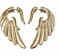 Gold Plated Wings Earrings Cuffs Spikes Studs FREE SHIP
