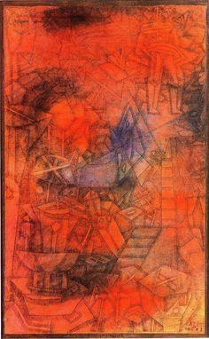 """Groynes, 1925, Paul Klee Size: 47x31 cm Medium: pen, ink, watercolor, board"""