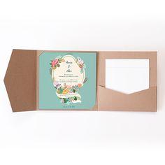 Hochzeitskarten Quadratisch - Vintage Romantik