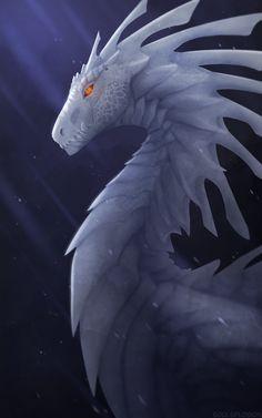 My ice dragon Mythical Creatures Art, Mythological Creatures, Magical Creatures, Ice Dragon, Dragon Flies, Mythical Dragons, Dragon Artwork, Dragon Drawings, Art Manga
