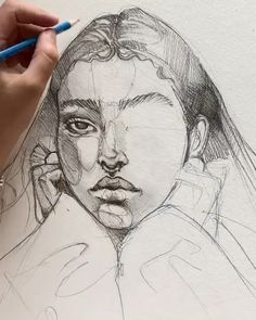 Skizzen Sketching process by Polina Bright Art Sketches art sketches Bright Polina process Sketching skizzen Pencil Art Drawings, Art Drawings Sketches, Sketches Of Faces, Indie Drawings, Black Pen Sketches, Sketch Art, Tattoo Sketches, Marvel Comics Wallpaper, Arte Sketchbook