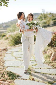 Nikki Reed and Ian Somerhalder Stun in Newly Released Wedding Pics!  Brides Magazine, Ian Somerhalder, Nikki Reed