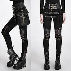 Cyber Punk Goth Gothic Pants Shorts Leggings for Men Women Page Five - Liquiwork