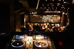 behind the dj booth?