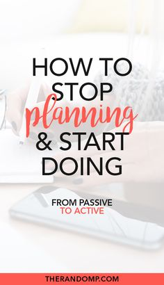 Start doing instead of planning - the ultimate guide to getting things done - - The essence of getting things done is simple - you have to do them. Here's how to start doing instead of planning - the ultimate guide to getting things done! Importance Of Time Management, Time Management Tips, Business Management, Business Planning, Business Tips, Business School, Productivity Hacks, How To Stop Procrastinating, All That Matters