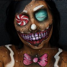 Pin for Later: Wicked Makeup Transformations to Inspire Your Halloween Costume Evil Gingerbread Man