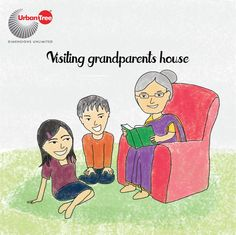 Visiting grandparents during summer holidays is something we miss doing it now. It is in our grandparents house we meet our cousins. And the pampering we get! Watching us play will bring a smile on our grandparents face :)