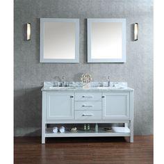 ariel bayhill 60inch doublesink bathroom vanity set grey size double