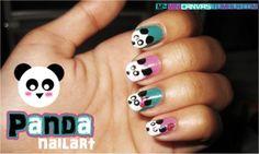 adorable, cuteness, fun, hearts, manicure, nail art tutorial, nail polish, Panda, panda nail design, pink, pretty, silly