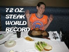 WORLD RECORD Molly Schuyler Devours 72 oz. Steak in less than 3 minutes