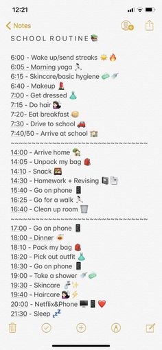 School Routine For Teens, Morning Routine School, School Routines, Night Routine, High School Hacks, Life Hacks For School, School Study Tips, Girl Life Hacks, Daily Routine Schedule