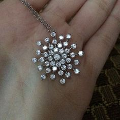 Sterling silver snowflake cz necklace Beautiful and great for travel when u don't want to take your real jewelry with you! Brand new! Made of finest cz stones! Jewelry Necklaces