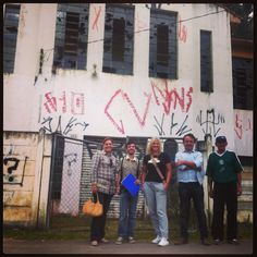 The team outside of the Tangua Community Building we plan to renovate over the next 18 months.