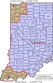 Indiana is in the Eastern Time Zone, except for the 6 counties near ...