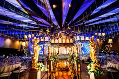 Kaycee's Gorgeous Venetian Opera Themed Party – Aisle details Marshmello Wallpapers, Party Themes, Party Ideas, Blooming Rose, Blue Leaves, Pastel Shades, Phantom Of The Opera, Stunning Dresses, Event Styling