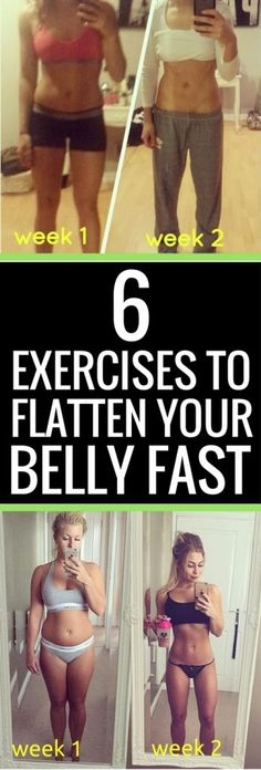 6 exercises guaranteed to flatten your belly fast #weightlosstips