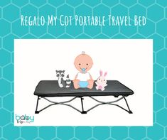 Regalo My Cot Portable Travel Bed, Includes Fitted Sheet Fitted Sheets, 3 Things, Cot, Travel With Kids, Packing, Play, Children, Simple, Fitness