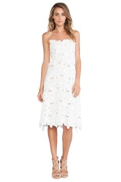 STONE_COLD_FOX Tennessee Dress in White   REVOLVE $415 poly, linen, silk