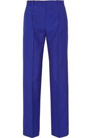 Lucia wool-twill wide-leg pants