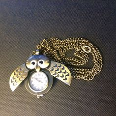 Brass Owl Necklace Owl Necklace, Pocket Watch, Bracelet Watch, Brass, Watches, Bracelets, Accessories, Products, Wristwatches