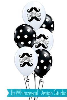 Little Man Mustache Birthday Balloons - Set Of 12. $10.00, via Etsy. @Shannon Bellanca Renz