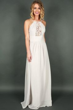 Drinks and Daydreams Maxi Dress in Grey 89e05d046d26