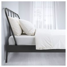 KOPARDAL Bed frame IKEA This updated version of a classic steel bed is easy to combine with different styles. Cama Ikea, Cama Murphy Ikea, Murphy-bett Ikea, Murphy Bed, Full Bed Frame, King Bed Frame, Camas Murphy, Ikea Bed Frames, Ikea Metal Bed Frame