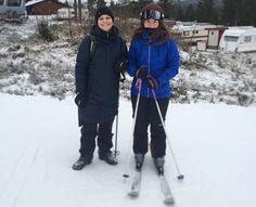 Crown Princess Victoria at Trysil Ski Center of Norway
