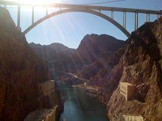Hoover Dam and the Pat Tillman Bridge