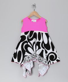 Take a look at this Black & Neon Pink Cover-Up - Toddler & Girls by Frankie & Daisy on #zulily today!