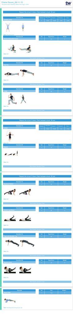 fitness programme templates