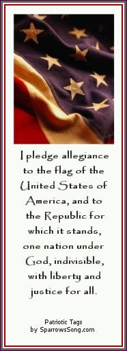 Pledge of allegiance - We don't say it often enough any more.