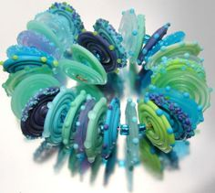 "Sistersbeads ""Amazon Discs"" Handmade Lampwork Beads | eBay"