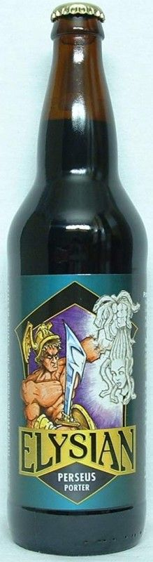 Cerveja Perseus Porter, estilo Porter, produzida por Elysian Brewing, Estados Unidos. 5.4% ABV de álcool.