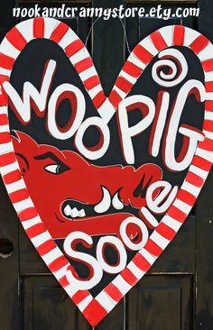 Ginormous Arkansas Razorback Door Hanger 1 by nookandcrannystore, $65.00