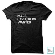 Mars Explorers Wanted - Unisex Tee