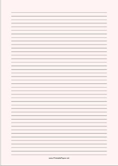 lined paper that you can type on