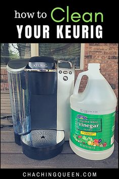 Make sure your Keurig makes clean,  great coffee with these easy clean steps. Clean your Keurig with vinegar in 15 minutes or less. Cleaning Recipes, Cleaning Hacks, Keurig Cleaning, Cleaning Supplies, Diy Cleaners, Household Cleaners, Household Tips, Cleaning Faucets, Essential Oils Cleaning