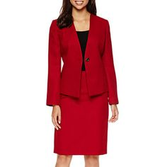 jcpenney.com | Chelsea Rose 3/4-Sleeve Jacket or Pencil Skirt Women's Suits, Dress Suits, Tailored Suits, Office Dresses, Suits For Women, Chelsea, Dressing, Pencil, Blazer