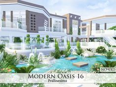 Modern Oasis 16 by Pralinesims at TSR via Sims 4 Updates