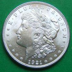 jack lee morgan silver dollars   Morgan Silver Dollar: 1921-P Almost Uncirculated Morgan Silver Dollar