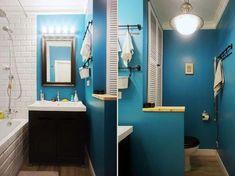 Super Ideas For Bathroom Design Blue Framed Mirrors Bathroom Colors Blue, Blue Bathroom Decor, Small Bathroom, Mirror Bathroom, Bathroom Ideas, Bath Ideas, Bad Inspiration, Bathroom Inspiration, Blue Framed Mirrors